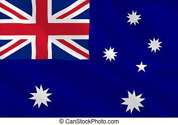 Australian flag rippling
