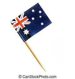 Australian Flag Toothpick Isolated on White with Path