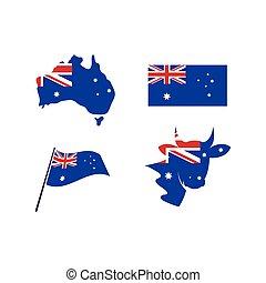 australian flag vector icon illustration design