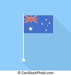 Australian flag. Vector illustration .
