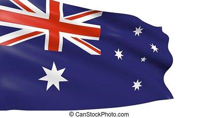 Australian Flag waving, animation