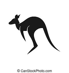 australian kangaroo animal logo design