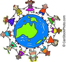 australian kids around the world - toddler art series