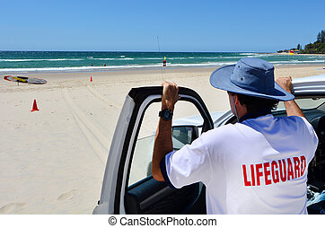Australian Lifeguards in Gold Coast Queensland Australia - ...