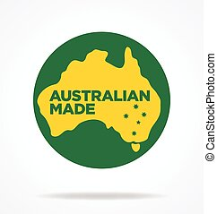 Australian made logo made in australia icon symbol sign vector