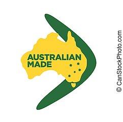 Australian made logo made in australia icon symbol sign vector