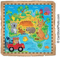 Australian map theme image 4 - eps10 vector illustration.