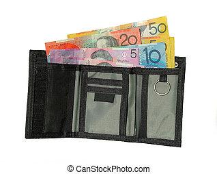 money - australian money in surfie wallet