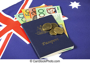 Australian Money with Passport. - Australian Money with ...