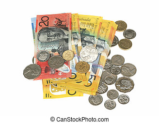 notes and coins - Australian notes and coins
