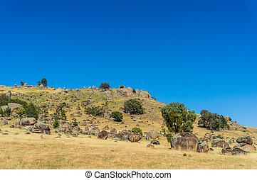 Australian outback landscape on sunny day