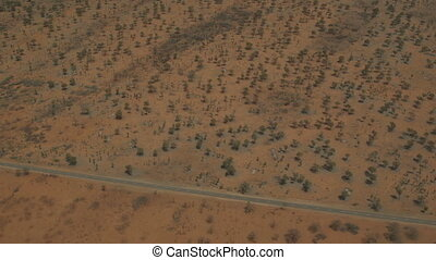 Australian Outback road and remote landscape, NT - Medium...