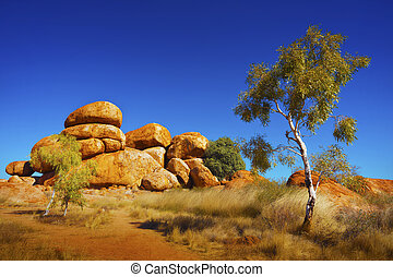 Australian Outback - View of the beautiful landscape in the ...