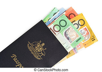 Australian Passport and Money