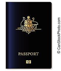Australian Passport - Australian travel passport over a...