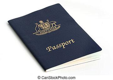 Australian Passport, isolated on white
