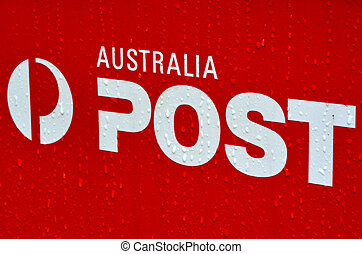 Australian post office box sign and symbol - MELBOURNE - APR...