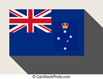 Australian state of Victoria flag in flat web design style.