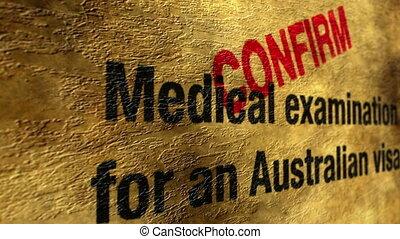 Australian visa confirm
