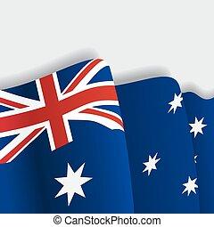 Australian waving Flag. Vector illustration.