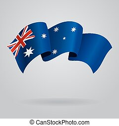 Australian waving Flag. Vector illustration