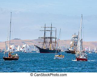 Australian Wooden Boat Festival at Hobart, Tasmania...