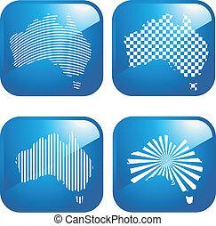 australiano, ícones negócio