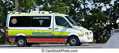 australiano, ambulância