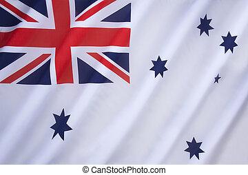 australiano, blanco, alférez