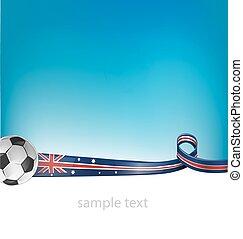 australiano, calcio, b, bandiera, fondo
