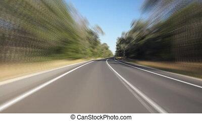 australiano, conducción, carretera