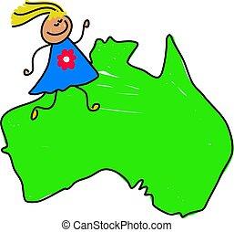 australiano, niño