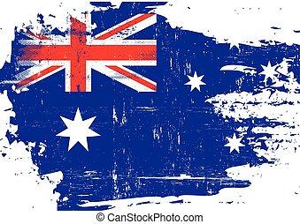 australiano, rasguñado, bandera