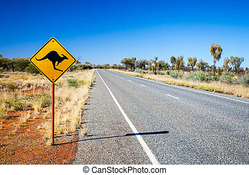 australiano, sinal estrada