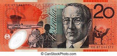 australiano, vinte dólar, nota