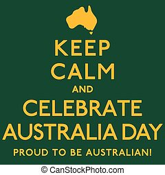 australie, affiche, format., vecteur, calme, day', 'keep, célébrer