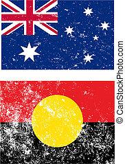 australie, drapeaux
