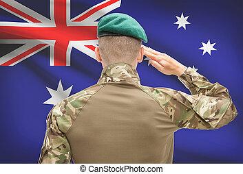 australie, forces, série, national, -, drapeau, fond, ...
