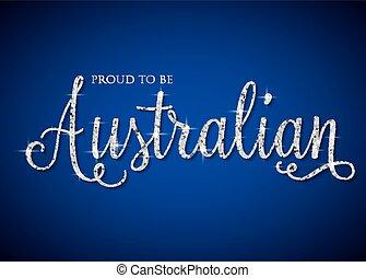 australie, iridescent, format., brillant, vecteur, scintillement, texte