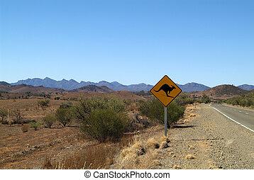 australie, panneaux signalisations