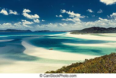 australie, plage, whitehaven
