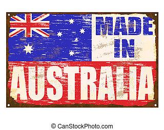 australie, signe, émail, fait