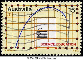 australien, -, circa, 1974, videnskab, undervisning