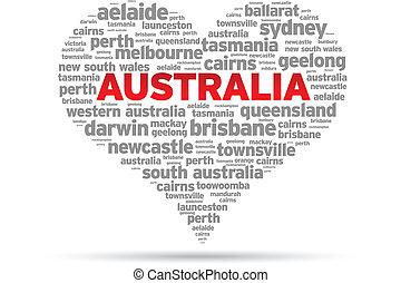 australien, kärlek