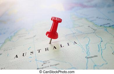 australien, karta