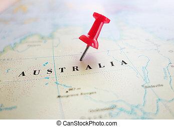 australien, karta stift