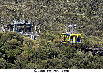 Australien, NSW, Blue Mountains, - Australia, skyway cable ...