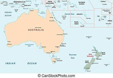 Australien Karta Lander.Sjalland Karta Flagga Australien Farsk Commonwealth Detaljerad