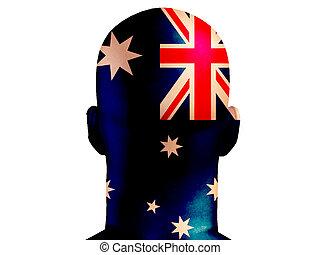 australien, tête