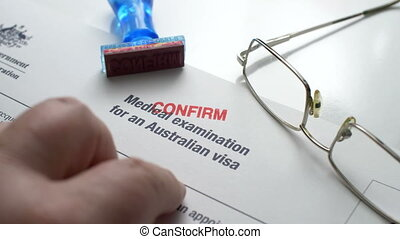 australien, visa, formulaire, confirmer